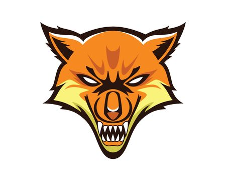 Detailed Fox Head Mascot and Emblem Illustration