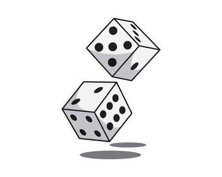 Detailed Pair of Dice Illustration