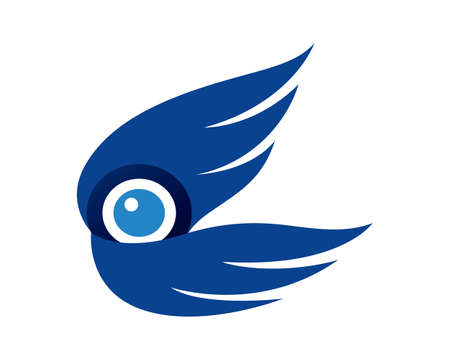 Drone, Aerial Photography and Aerial Videography with Wings Symbol  イラスト・ベクター素材