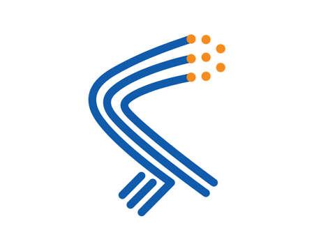 Fiber Optic and Optical Fiber Symbol