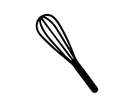 Whisk and Egg Beater Symbol Illustration Vektorgrafik