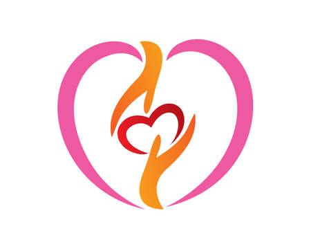 Sharing Love, Social Charity, Volunteering and Foundation Symbol