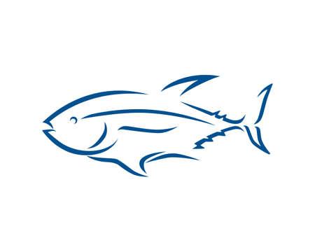 Tuna Fish and Sea Animal Entity Silhouette
