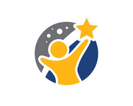 A Man Reaching Stars