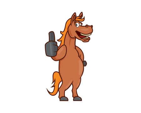 A Horse or Stallion Recommending Gesture Illustration Illustration