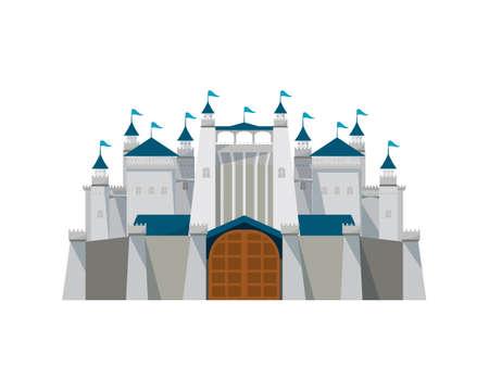 Detailed Big and Great Fortress Illustration Vector Illusztráció