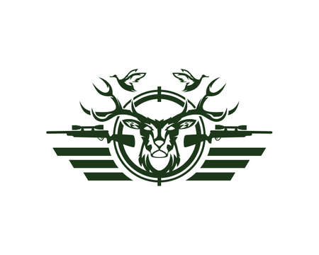 Deer or Duck Hunting Logo Club and Sports