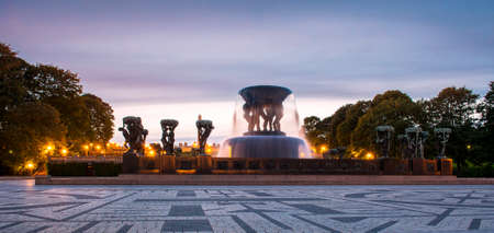The 'Vigeland' installation in the 'Frogner Park'. Norway, Oslo.