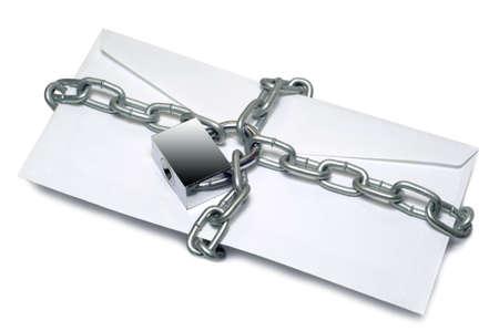 levelezés: A védett levelezés Stock fotó