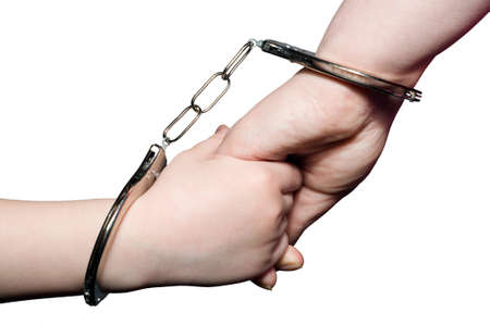 Hands handcuffed photo