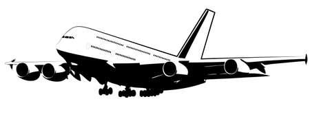 passenger plane Vector