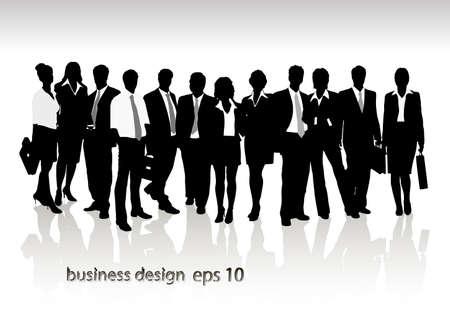 woman business suit: Gruppo di uomini d'affari e d'ufficio