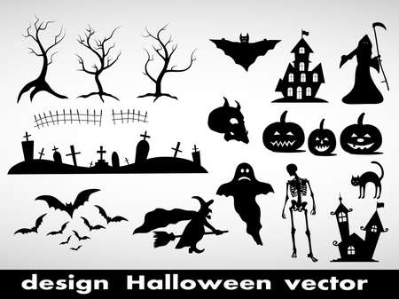 design element Halloween  Vector