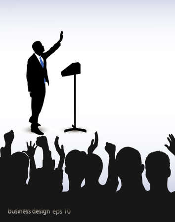 candidate: on the image the person addressing to audience is presented