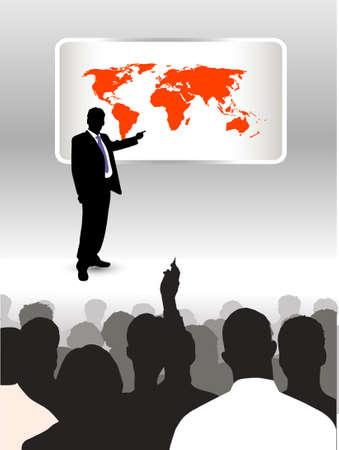 experte: auf das Bild der Person Adressierung Publikum vorgestellt