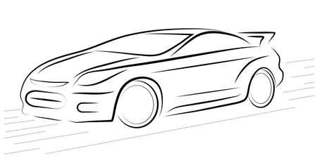 imagens mostram o contorno de um carro esportivo Imagens - 15585612