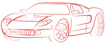 pictures show the contour of a sports car Stock Vector - 15585632