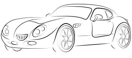 animated film: pictures show the contour of a sports car