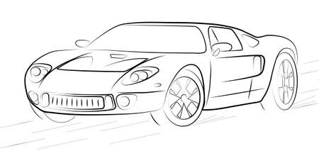 pictures show the contour of a sports car
