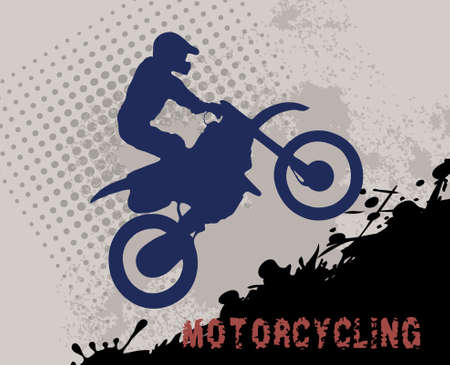 The pictures show a motorcycle racer on the track Stock Vector - 15585623