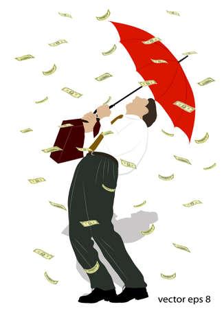 rain from money Stock Vector - 15752417