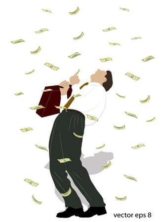 animated film: rain from money