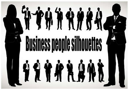 medium group of people: silhouette of the businessman