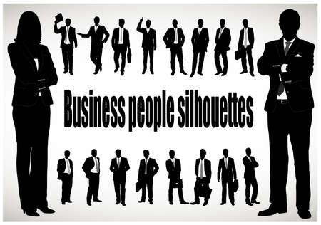 business shirts: silueta del hombre de negocios Vectores