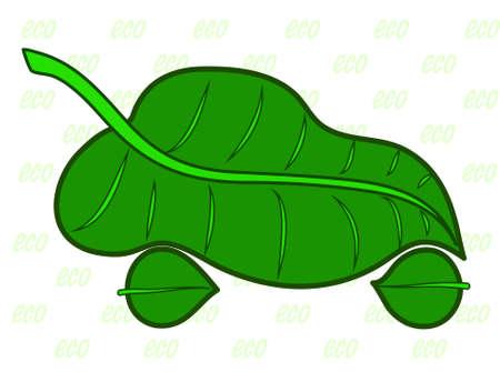 car leaf: car in the form of a green leaf Illustration