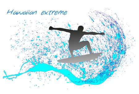 surfer on waves Vector
