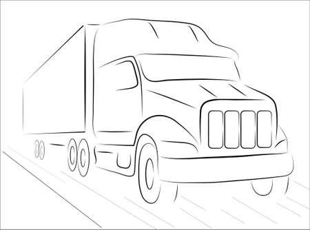 mode of transportation: Le immagini mostrano un camion su uno sfondo bianco Vettoriali
