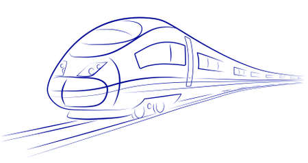 france painted: high-speed train