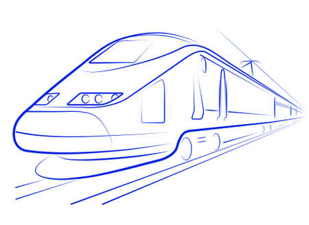 high-speed train Stock Vector - 15888110