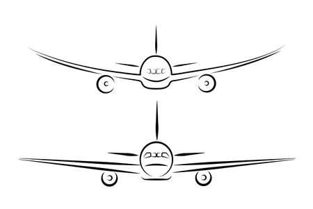aviations: plane silhouette