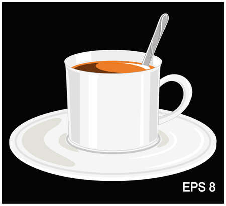 cup coffee with drink Vector