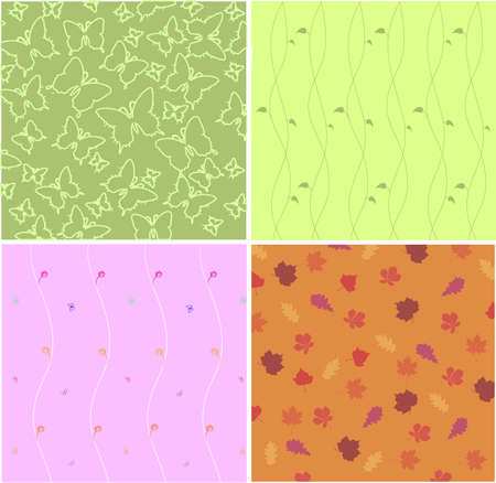 decorative natural backgrounds Vector