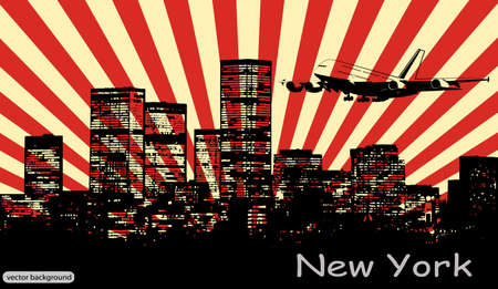 abstract panorama of the city Stock Vector - 15888206