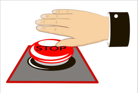 hand presses the stop Stock Vector - 15933467