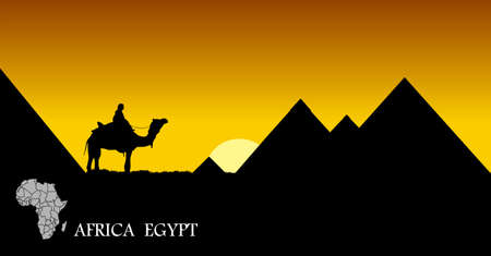 Egyptian landscape Stock Vector - 15933490