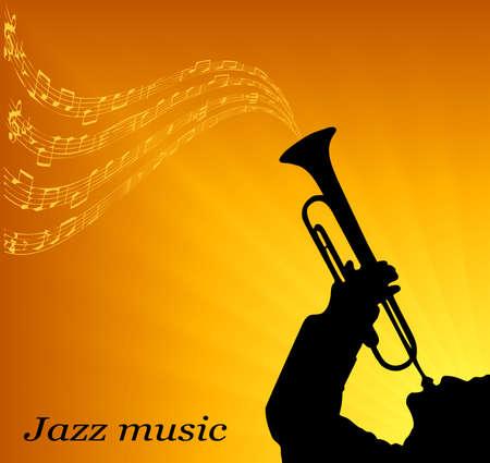 jazzmuzikant Stock Illustratie