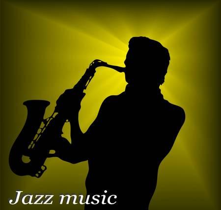 jazz men: jazz musician Illustration