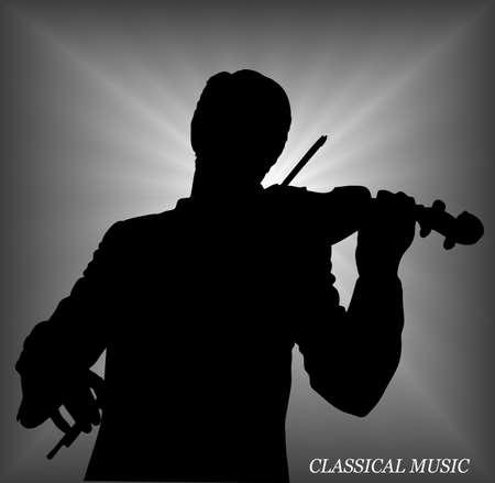 plucking an instrument: violinist