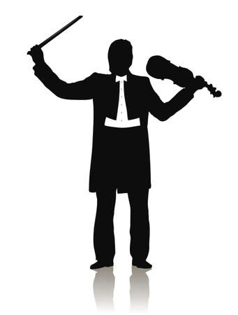 plucking: violinist