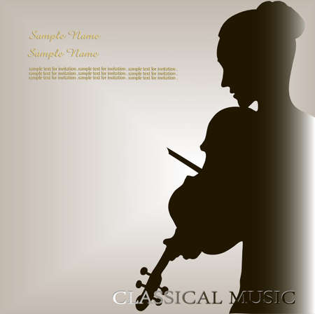 the musician with a violin Vector