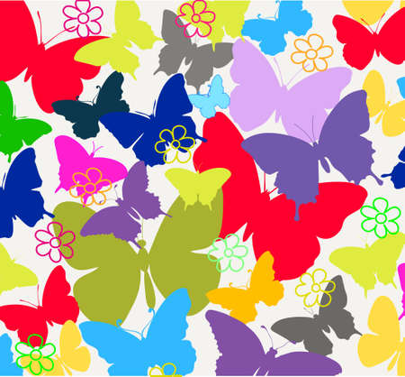 abstract background from butterflies Stock Vector - 15933501