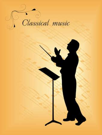 chef d orchestre: conducteur Illustration