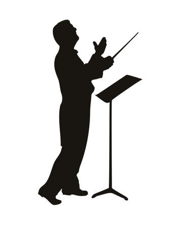 mature business man: conductor