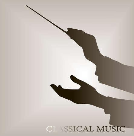 estafette stokje: dirigent