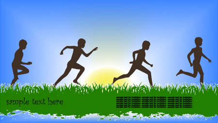 running children Vector
