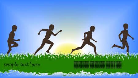 shadow people: running children